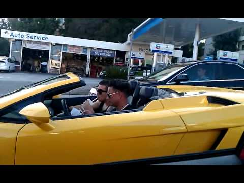 Pauly D and Vinnie Cruising in the Lambo - Celebrity Cars