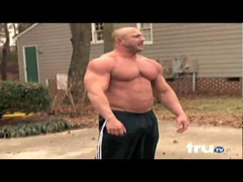 HUGE Bodybuilder Goes Crazy!!