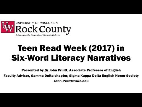 Six-Word Literacy Narratives, U of Wisconsin-Rock County