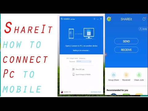 How to use new version of shareit between pc and phone ||  upgrade share it easy with install