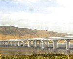 Artist rendering of the proposed Utah Lake Bridge