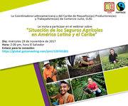 Webinar sobre estudio de Seguros Agrícolas en Latinoamérica y el Caribe