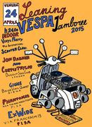 Leaning Vespa Jamboree 2015