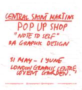 Central Saint Martins and London Graphic Centre Pop-up Shop