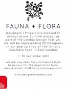 FAUNA + FLORA   Open Call for Designers