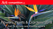 """Art Call """"Flowers, Plants & Gardens 2018"""" Prizes $1,625.00 in Cash and $6,500.00 in Marketing Prizes"""