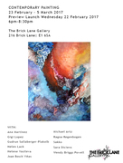 CONTEMPORARY PAINTING 23 February  - 5 March  2017