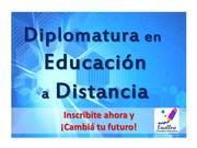 NUEVA Diplomatura en Educación a Distancia