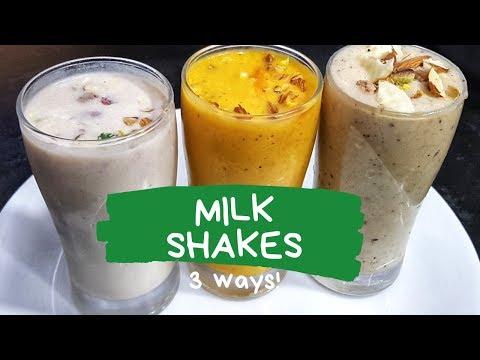 3 Easy and Quick Milkshake Recipes