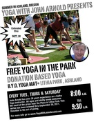 FREE Yoga In The Park!  (Lithia Park) - TUESDAYS, THURSDAYS & SATURDAYS