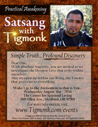 Satsang with TigMonk at CSL Rogue Valley