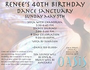 Oasis Dance Sanctuary & Renee's 40th Birthday
