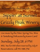 Sippin' at Sunset at Grizzly Peak Winery