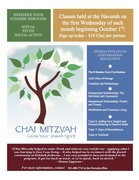 Chai Mitzvah Monthly Classes at the Havurah - WEDNESDAYS THROUGH MAY 16th, 2015