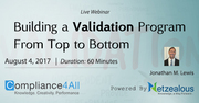 Validation Program to a Building from Top to Bottom - 2017
