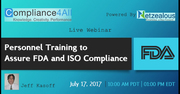 FDA and ISO Compliance Personnel Training - 2017