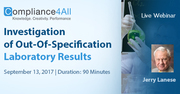 OOS, Out-Of-Specification Laboratory Results