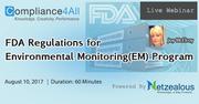 Environmental Monitoring Program at FDA Regulations - 2017