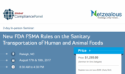 New FDA FSMA Rules on the Sanitary Transportation 2017