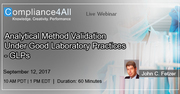 Good Laboratory Practices - Under Analytical Method Validation