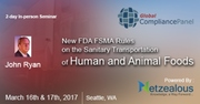 New FDA FSMA Rules on the Sanitary Transportation of Human and Animal Foods 2017