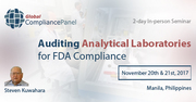 Auditing Analytical Laboratories for FDA Compliance 2017