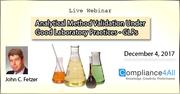 Validation Under Good Laboratory Practices 2017