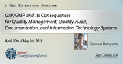 Course on GxP/GMP Regulations: Requirements Compliance 2018