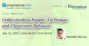 Aseptic Technique Understanding and Cleanroom Behavior - 2017