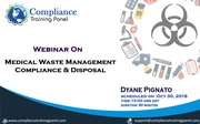 "Webinar On ""Medical Waste Management: Compliance & Disposal"""