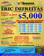 $5000 Eric DeFreitas Scratch Singles Classic sponsored by Boom Apparel
