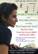 """Marcê Porena Canta Dolores Duran no show """"Por Causa de Você"""""""