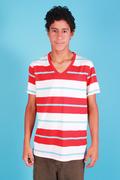 T-shirt-V-neck-Pima-cotton-stripes