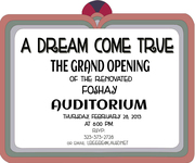 A Dream Come True: Grand Opening Event for Foshay's Newly Renovated Auditorium