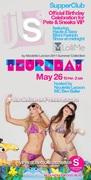 LolliMe Bikini fashion show Thursday Supperclub