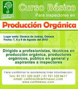 Curso Basico para Inspectores en Producción Orgánica