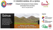 IV Congreso Mundial de la Quínoa