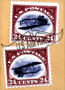 two airmail stamps