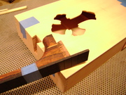 Dovetail neck joint.