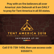 Daily Prayer Calls for Tent America / Awaken the Dawn