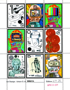 2011 ARTURO FALLICO / MIKE DICKAU COLLABORATIVE ARTISTAMP SHEET #2