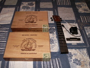 Double decker tenor cigar box ukulele
