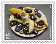2012 BANANA DOMINO PLATE ARTISTAMP