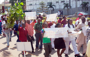 Staff of National Hospital protest over delay of their promotion