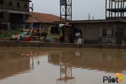 Terrible Roads: Ago Palace Way in Okota flooded.