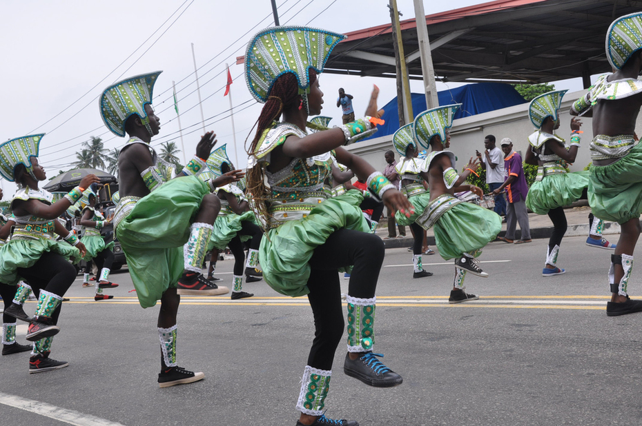 Lagos 2014 Carnival with Fashola and Minister of Tourism- 3
