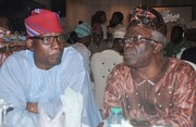 Chief Emeka Anyaoku, Aremo Osoba, Kayode Fayemi, Mimiko at  Dinner Reception honour Prof. Jide Osuntokun in Lagos- 7