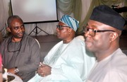 Chief Emeka Anyaoku, Aremo Osoba, Kayode Fayemi, Mimiko at  Dinner Reception honour Prof. Jide Osuntokun in Lagos- 8