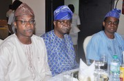 Chief Emeka Anyaoku, Aremo Osoba, Kayode Fayemi, Mimiko at  Dinner Reception honour Prof. Jide Osuntokun in Lagos- 9