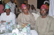 Chief Emeka Anyaoku, Aremo Osoba, Kayode Fayemi, Mimiko at  Dinner Reception honour Prof. Jide Osuntokun in Lagos- 10